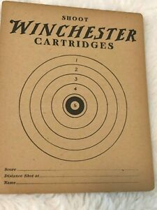 """Shoot Winchester Cartridges"" target advertisement 1900's Vintage Gun Revolver"