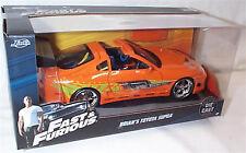 Fast & Furious Brians Toyota Supra 1-24 Diecast model Scale New Jada 97168