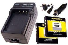 Ladegerät und 2 * Akku Batterie Accu im SET für Kodak EasyShare M1093 IS