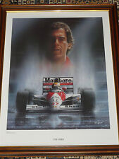"Ayrton Senna "" The Hero ""  Print ( Framed )"