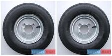 A pair 4.80 / 4.00 X 8 Inch 6 PLY Trailer wheels and tyres 4 inch pcd