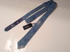 BNWT 100% Auth Diesel, Knotted Designer DENIM Blue Slim Tie with Logo. RRP £85
