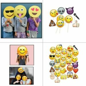 Emoji Faces Photo Booth Props Birthday Party Game Selfie Funny Mask Photography