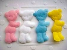 """40 Padded Felt Baby Bear 2"""" Applique/Pink/Blue/White/Yellow/Sewing/Trim/Cute L13"""