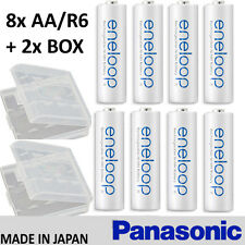 NEW Genuine Panasonic Eneloop NiMH AA R6 2000mAh x 8 Rechargeable Battery Japan