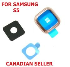 Samsung Galaxy S5 Rear Camera Lens Glass Cover and Bezel with Adhesive - Gold