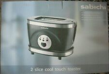 SABICHI 2 COOL TOUCH SLICE  TOASTER NEW IN BOX