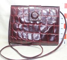 Vanessa Croc Embossed Leather Cross Body Bag Made in Korea