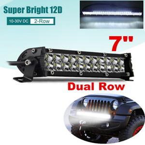 "7"" 100W Spot LED Light Bar Off-road Driving Lamp SUV Boat 4WD ATV Truck 12V 24V"