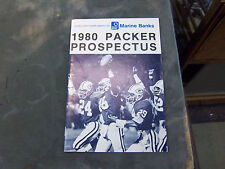 OLD 1980  GREEN BAY PACKERS PROSPECTUS