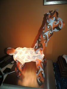 "IQ Puzzle Lamp 18"" Giraffe orange white creative modern jigsaw light figural"