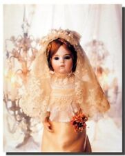 Cute Baby Doll in Wedding Dress Kids Bedroom Decor for Girls Art Print (16x20)