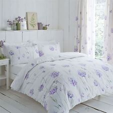 ALLIUM FLOWERS PURPLE GREEN 144 TC COTTON BLEND KING SIZE DUVET COVER