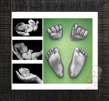 Baby Keepsake DIY 3D Casting Kit & Shadowbox photo frame   #3T2Y