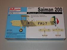 1/72 Scale AZ Models Saiman 200 Italian Training Bi-plane