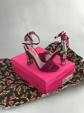 Betsey Johnson Rallo Heels Pumps Fuchsia Size 6.5 Brand New In Box 🌸🌹🌺🌷