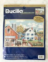 "Bucilla Nine Patch Quilt Counted Cross Stitch Kit #42566 - 10"" x 7"" NEW Sealed"