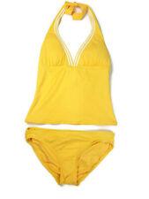 3ad2a5ac9b3b5 Coco Rave Halter Tankini Bikini Bathing Swim Suit Size Small 32D Yellow  Padded
