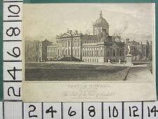1828 DATED ANTIQUE PRINT ~ CASTLE HOWARD YOKSHIRE EARL OF CARLISLE
