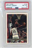 1997 Topps Basketball #123 Michael Jordan PSA 8 Graded Chicago Bulls