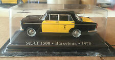 "DIE CAST "" SEAT 1500 - BARCELONA - 1970 "" 1/43 TAXI SCALA 1/43"