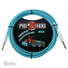 "Pig Hog PCH10DB 1/4"" to 1/4"" Daphne Blue Instrument Cable, 10 feet"