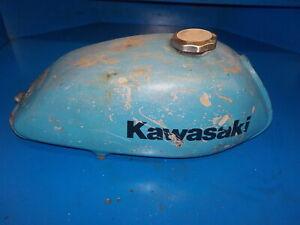 KAWASAKI MC1M 90 1973-75 FUEL TANK GAS TANK ( HAS BEEN LINED )CAP,DAMAGED ,USED