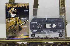 Megadeth So Far So Good So What BIG Four 4 Thrash Speed Metal Cassette Tape