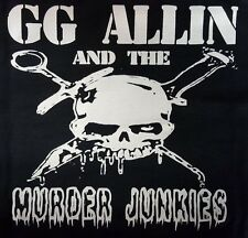 GG ALLIN and the MURDER JUNKIES PUNK ROCK BLACK CANVAS BACK PATCH