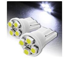2X LUCI DI POSIZIONE LED BIANCO XENON T10 4 SMD lampadina auto 6000K 12V W5W car