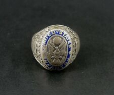Vintage Old United States Infantry Enamel Sterling Silver RING Size 7 1/2