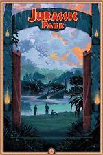 Jurassic Park by Kilian Eng - Rare Alternative Movie Poster Set No. /15 NT Mondo