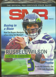 NEW Gem Mint SMR PSA Price Guide FEBRUARY 2021 RUSSELL WILSON Sealed Issue 🔥