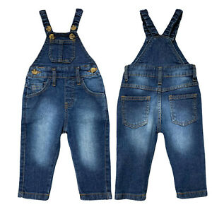 Baby Boys Denim Dungarees Toddler Bodysuit Authentic New Age 3 Months to 5 Years
