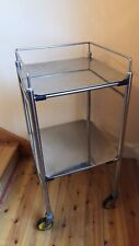 INDUSTRIAL STAINLESS STEEL SERVING TROLLEY MEDICAL MID CENTURY VINTAGE DRINKS