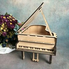 Wooden Grand Piano Miniature Vintage Dollhouse Furniture For Craft Embellishment