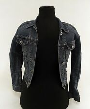 Damen-Jeansjacken aus Baumwollmischung ohne Muster mit Knöpfen