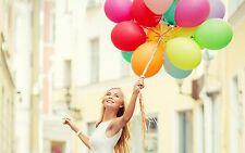 60 PCS Jumbo Multi Color Metallic Party Brithday Xmas Celebration Balloons 23cm