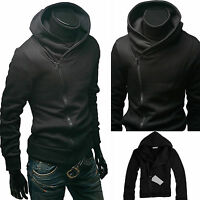 Mens Hoodie Sweatshirt Hooded Jumper Top Casual Sports Hoody Jacket Coat Outwear