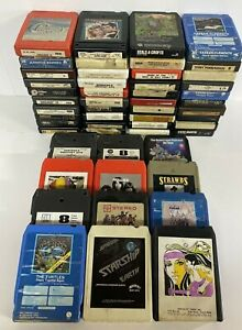 Huge Lot of 50 + Vintage 8 Track Tapes Classic Rock 70s Variety