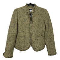 NWT J Crew Jacket Wool Blend Tweed Golden Moss Blazer 69911 Size 2