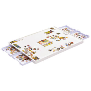 1000Pcs Jigsaw Puzzles Board and 4 Storage & Sorting Drawers Plastic Table Tray