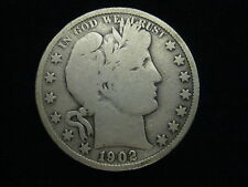 1902 US BARBER SILVER HALF DOLLAR 50 CENT COIN
