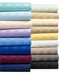 Unique 5 PCs Duvet Set 1000tc Egyptian Cotton Striped Colors Queen Size
