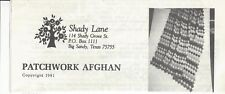 Crocheted Afghan Pattern Vintage New (Patchwork))