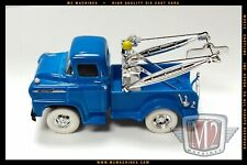 M2 Machines 1958 58  Blue Chevrolet LCF Chrome Tow Truck White Tires Chase 1/64