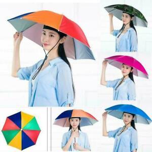 Umbrella Hat Sun Shade Golf Camping Fishing Hiking Foldable Hot Cap Y2R6