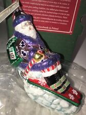 "Slavic Treasures Ornament ""Skiing Santa""-Mib"