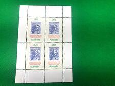 Vtg Ephemera'78 Australia National Stamp Week 20c Blue Kookaburra 12-Sheets of 4