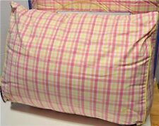 Southern Tide Patio Yellow Pink Orange Plaid Wedge Pillow New